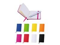 Notizbuch A6 mit Gummiband und Leseband, 80 Seiten