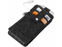 """Blackmaxx® Handygeldbörse """"Mobile&Money"""" Filz"""