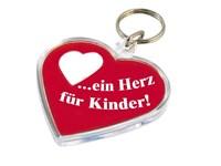 """Schlüsselanhänger """"Herz"""" inkl. Papiereinleger, 4-f"""
