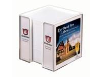 Zettelbox 100 x 100 x 100 mm, doppelwandig inkl. 4