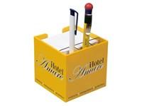 Zettelbox mit Köcher, 100 x 100 x 100 mm