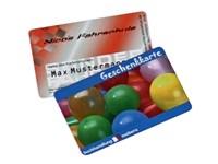 Multikarte, 0,76 mm Druck 1/0 - 4/0 farbig