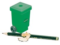 "Recycling-Anspitzer ""Mülltonne"", eckig, mit Rädern"