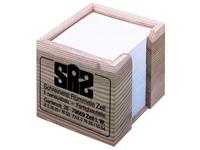 Holz-Zettelbox, 100 x 100 x 85 mm