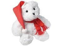 """Plüschtier """"Weihnachtsbär"""", groß, weiß/rot"""