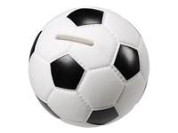 """Spardose """"Fußball"""", weiß/schwarz"""