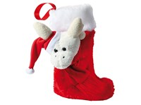 """Plüschsocke """"Rudolph"""", weiß/rot"""