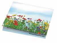 Klappkärtchen Blumenstrauß, 90 x 60 mm, Blumenmisc