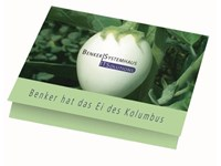 Klappkärtchen Eierbaum, 90 x 60 mm Eierbaumsamen,