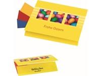 Klappkärtchen Eierfärberei 90x 60 mm, 3 Farben sor