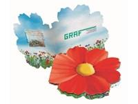 Klappkärtchen Blüte, bunte Blumenmischung, 1-4 c D