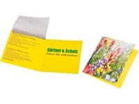 Saatteppich Klappkärtchen, Blumenmischung, 1-4 c D