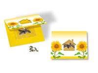 Samenkärtchen Haus, Samen Zwergsonnenblume, 1-4 c