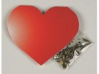Klappkärtchen Herz, Samen bunte Blumenmischung, 1-