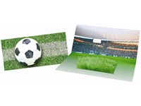 Mini-Arena Karte, Fußballfeld (ohne Kuvert), Zimme