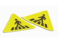 Verkehrszeichen-Sticker reflektierend