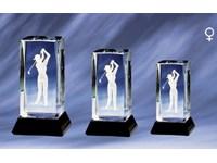 Cristal Damen Golf Award 10 cm