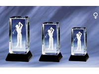 Cristal Damen Golf Award 9 Cm
