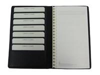 Kalender Brieftasche Schwarz Nappa Rindleder