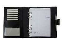 Organizer A5 Schwarz Leder Faser
