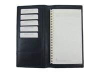 Kalender/Notiz Umschlag Blau Nappa Rindleder