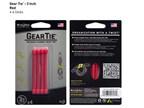 Nite Ize Gear Tie 3 4 pack Red