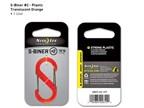 Nite Ize S-Biner Plastic 2 Orange Translucent