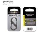 Nite Ize S-Biner Plastic 2 Smoke Translucent