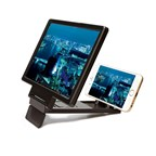 Magnifier Smart Phone Stand - black