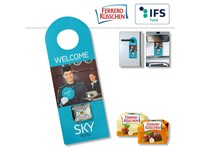 Promo Door-Tag with Ferrero Küsschen classic or wh