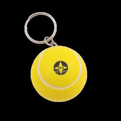 Anti-stress tennisbal met sleutelhanger