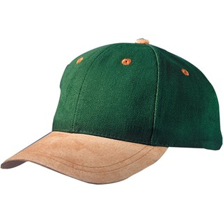6 Panel Cap with Suede Peak