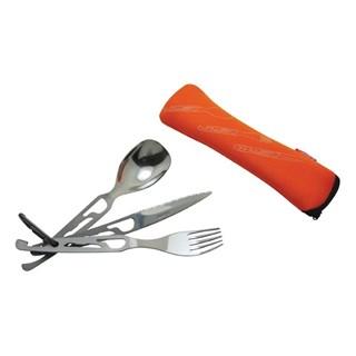 5 functions cutlery set 'Basecamp', oranje
