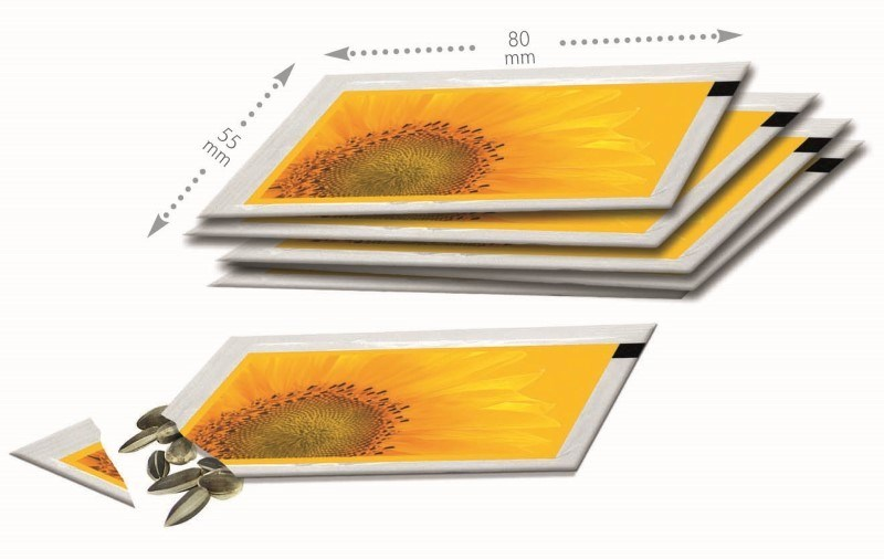 111959748744 - Sachet de graines 80x55 mm, mini tournesol, motif