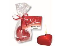 Heart Candle, incl. 1-4 c digital printing