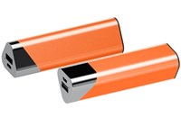 Powerbank Circle chroom-oranje