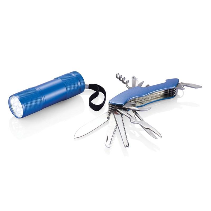 111795727389 - Set d'outils Quattro bleu