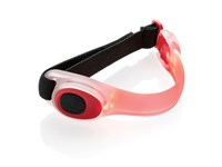 Veiligheids LED armband, wit/zwart