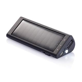 2200 mAh solar powerbank, zwart