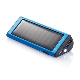 2200 mAh solar powerbank, blauw