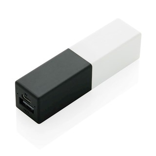 2200 mAh fashion powerbank, zwart