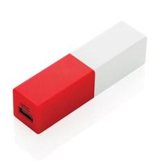 2200 mAh fashion powerbank, rood