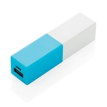 2200 mAh fashion powerbank, hemelsblauw