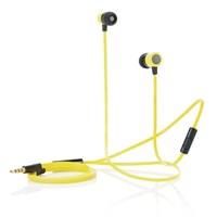 In-ear oordoppen met platte kabel, zwartzwart