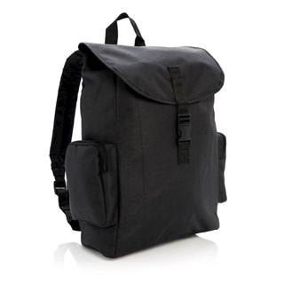 15 Laptop rugtas met buckel sluiting, zwart