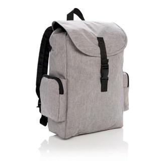 15 Laptop rugtas met buckel sluiting, grijs