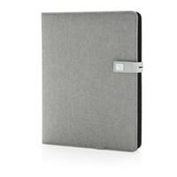 Kyoto powerbank & USB notitieboek, grijs