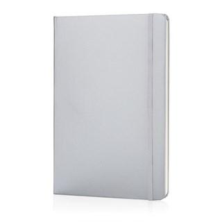 A5 Basic hardcover notitieboek, zilver