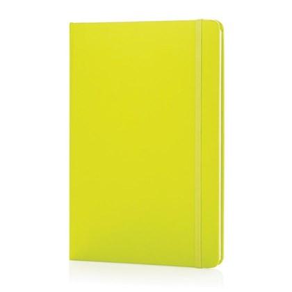 A5 basic hardcover notitieboek, limegroen