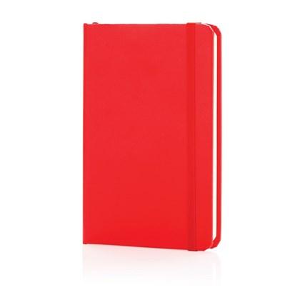 A6 Basic hardcover notitieboek, rood